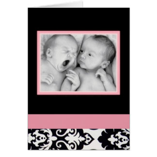 Both  babies picture blank card