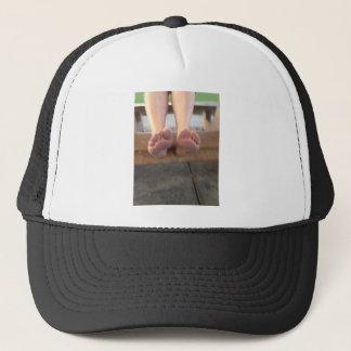 BOTH FEET UP CLOSE TRUCKER HAT