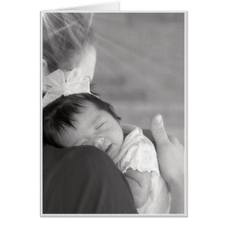 Both her mother's love. greeting card
