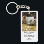 """Both Loved Pet Memorial Keychain<br><div class=""""desc"""">Commemorate the anniversary of a beloved pet&#39;s passing with this double-sided Pet Memorial Keychain. Completely customizable front and back, this key chain is available in rectangular, square or circle style. You can also choose a single-sided keychain in rectangular, square or circle style. It can also be used as a thoughtful...</div>"""