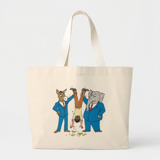 Both Parties Suck Jumbo Tote Bag
