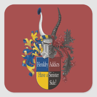 Both sides of Heraldry Square Sticker