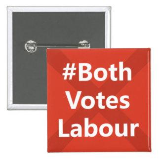#Both Votes Labour Party Logo Button