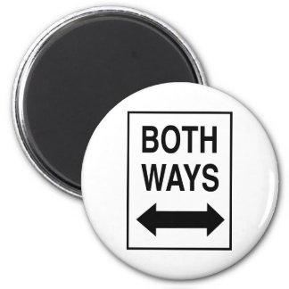 Both Ways 2 Inch Round Magnet
