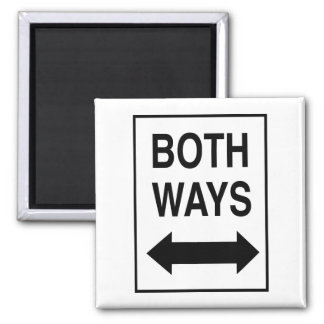 Both Ways 2 Inch Square Magnet