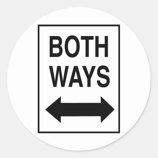 Both Ways Classic Round Sticker