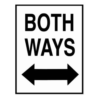 Both Ways Post Card