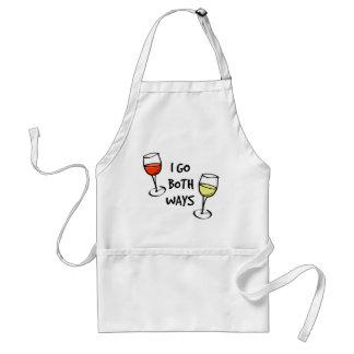Both Ways Wine Glasses Adult Apron