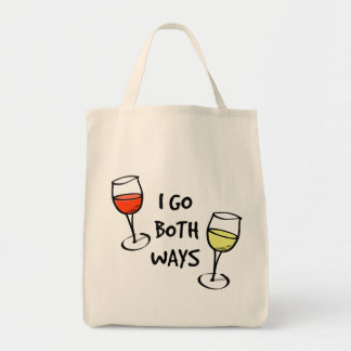 Both Ways Wine Glasses Tote Bag
