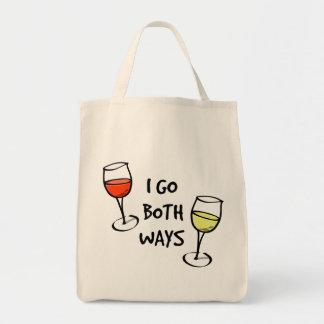 Both Ways Wine Glasses Tote Bag