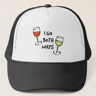 Both Ways Wine Glasses Trucker Hat