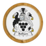 Botham Family Crest Round Cheese Board