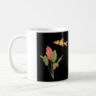 Botia macracanthus & Cryptocoryne cordata Black Coffee Mug