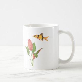 Botia macracanthus & Cryptocoryne cordata White Coffee Mug