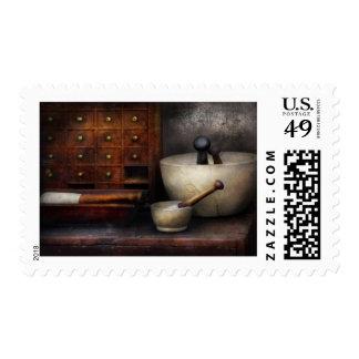 Boticario - maja y cajones timbre postal
