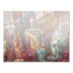 Boticario - una serie de botellas invitación 10,8 x 13,9 cm