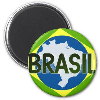 Botom Brazil 001 2 Inch Round Magnet