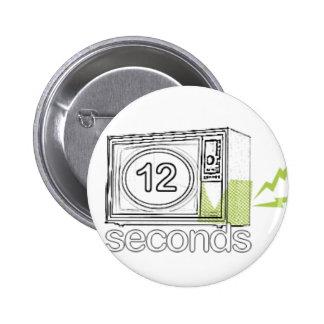 botón 12seconds.tv pin redondo de 2 pulgadas