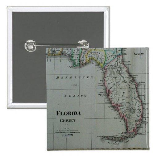 Botón 1823 del mapa de la Florida Pin