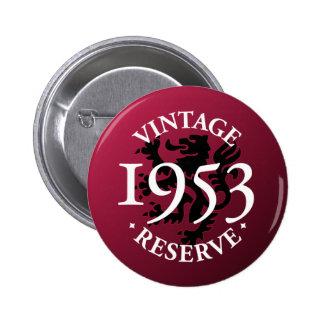 Botón 1953 de Pinback de la reserva del vintage Pin