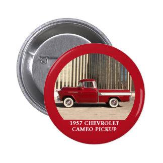 Botón 1957 de la recogida del camafeo de Chevy Che Pin Redondo De 2 Pulgadas
