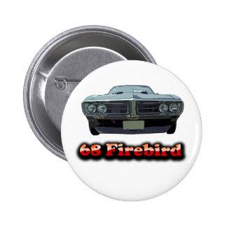 Botón 1968 de Firebird Pin Redondo De 2 Pulgadas