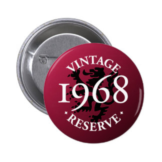 Botón 1968 de Pinback de la reserva del vintage Pins