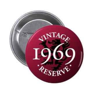 Botón 1969 de Pinback de la reserva del vintage Pin