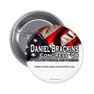 Botón 1 de Daniel Brackins 2008 Pin