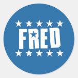 Botón 1 de Fred Etiqueta Redonda