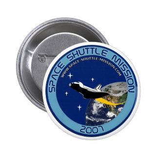 Botón #1 de la misión de transbordador espacial pin redondo de 2 pulgadas