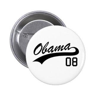 Botón 2008 del jersey de Barack Obama Pin Redondo De 2 Pulgadas