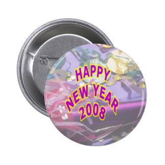 Botón 2008 pin redondo de 2 pulgadas