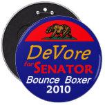 Botón 2010 de DeVore California los 6in Pin