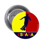 Botón 2010 del fútbol de Espana España Pin Redondo De 2 Pulgadas