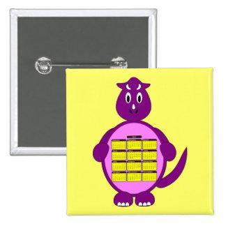 Botón 2011 del calendario del dinosaurio pins