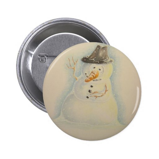 Botón 2011 del muñeco de nieve pin