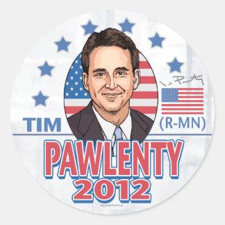 Botón 2012 de camisa de Tim Pawlenty Pegatina Redonda