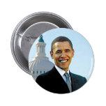 Botón 2012 de la campaña de la foto de Barack Obam Pin