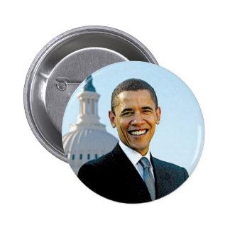 Botón 2012 de la campaña de la foto de Barack Obam Pin Redondo De 2 Pulgadas