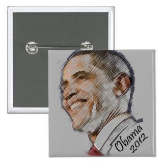 Botón 2012 de la elección de Obama Pin Cuadrado