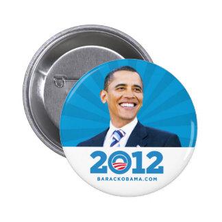 Botón 2012 de la foto de Barack Obama Pin Redondo De 2 Pulgadas
