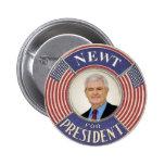 Botón 2012 de Newt Gingrich Pin