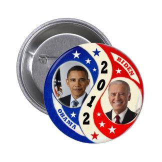 Botón 2012 de Obama Biden Jugate Pin Redondo De 2 Pulgadas