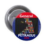 Botón 2012 de Petraeus Presdent Iraq Pin