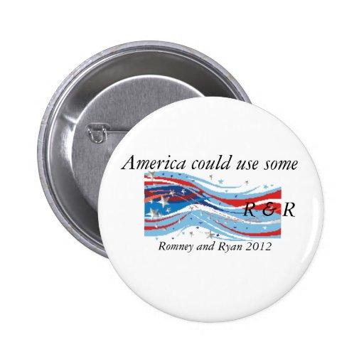Botón 2012 de Romney R&R
