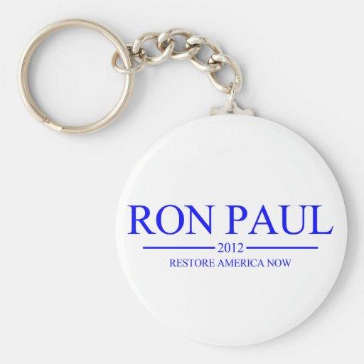 Botón 2012 del llavero de Ron Paul
