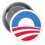 Botón 2012 del logotipo de Obama Pin Redondo De 3 Pulgadas
