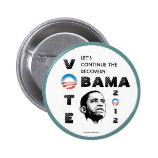 Botón 2012 del pinback de OBAMA Pin Redondo De 2 Pulgadas