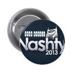 Botón 2013 del funcionario de Nashty Meetup Pin